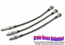 STAINLESS BRAKE HOSE SET Chevrolet Parkwood, 1959 1960 1961