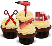 NOVELTY Hairdressing RED Mix STAND UP / Icing Edible Cake Toppers Birthday
