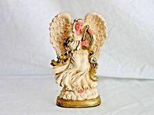 Cornerstone Creations Angel Figurine Vintage Yr. 2000 Antique Beige & Gold