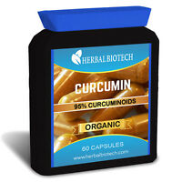 ORGANIC CURCUMIN TURMERIC 95% CURCUMINOID CAPSULES ANTIOXIDANT 3D UK STRONGEST