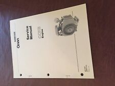 ONAN ENGINE TROUBLESHOOTING AND SERVICE MANUAL MODEL CCKB GENERATOR