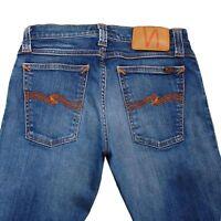 Nudie Jeans Eng Lang John Super Blau Slim Damen Jeans Größe 26/32