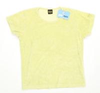 Wrangler Womens Size M Textured Cotton Blend Yellow Top (Regular)