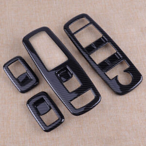 Carbon Fiber Window Switch Panel Cover Trim Fit For Jeep Grand Cherokee 2014-18