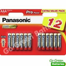 12 x Panasonic AAA Pro Power Alkaline Batteries 2025 Expiry LR03 MX2400 MICRO