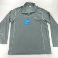 NEW Columbia Men's Klamath Range 1/2 Zip Fleece Pullover Jacket Gray • XL
