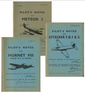 METEOR 3 ATTACKER FB1/2 HORNET FIII: PILOTS NOTES+BONUS INFO/DATA PACK/ DVD