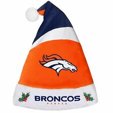 Denver Broncos Team Logo Holiday Plush Santa Hat NEW! Christmas 2016