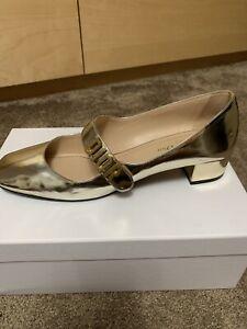 Christian Dior Baby D Gold Ballerina Flats Size 40.5