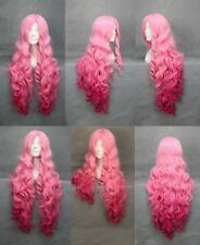 Cosplay Utano Prince Sama Women Long Pink Red Wavy Curly Hair Costume Full Wigs