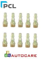 """PCL 1/4"""" BSP Male Tool Coupling Adaptor Air Line Fittings x10"""