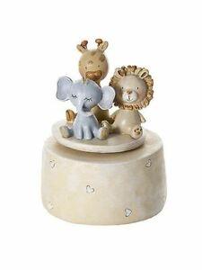 Mousehouse Safari Animal Music Box for Baby Shower or Christening Present