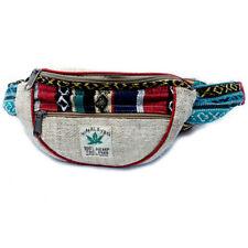 Natural Hemp & Cotton Bum Bag Fanny Pack for Festivals & Travel Money Waist Belt