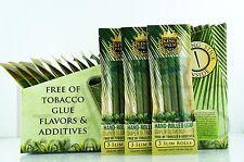9x King Palm Slim Size 100% Tobacco Fee Natural Leaf Rolls With Corn Husk Filter