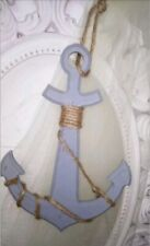 Deko Anker Holzanker Holz  blau Shabby chic vintage Deko Maritim 27cm