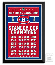 Montreal Canadiens 24 X Stanley Cup Champions  Framed Museum Canvas™ Special Ed.