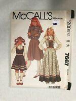 McCall's Vintage Sewing Pattern 7667Jumper Dress & Blouse Sz 7 UNCUT