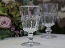 Chic Antique Weinglas Glas mit Perlenkante Shabby Brocante