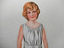 ANTIQUE VICTORIAN DIE CUT PAPER DOLL FROM SUNSHINE BISQUITS ADV TRADE CARD