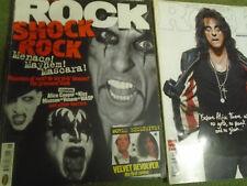 Classic Rock magazine lot alice cooper x2 shock rock velvet revolver metal