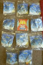 "NEW RARE McDONALDS ""SMURFS 25th ANNIVERSARY BELGIUM"" SET 10 TOYS & SMALL BOOKLET"