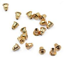50 Pcs Gold Tone Bullet Earring Pin Stud Back Stoppers nuts DIY Craft