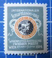 Cinderella/Poster Stamp - Austria 1914 Wiener Messe Vienna Fair grey 9514