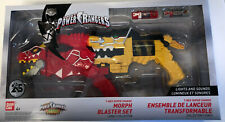 Power Rangers Dino Super Charge Yellow & Red T-Rex Morphers Blaster Set New