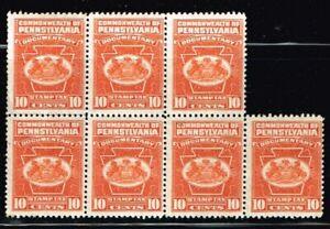 US  COMMONWEALTH OF PENNSYLVANIA REVENUE ( documentary 10 cents tax ) no.2143