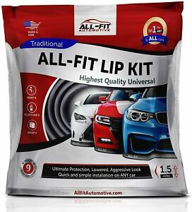 """All-Fit Universal 1.5"""" Lip Kit [Black] Spoiler Lower Bumper Splitter Ez Lexus 9'"""