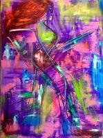 running girl art Abstrait Moderne Contemporain street 60x80 cm