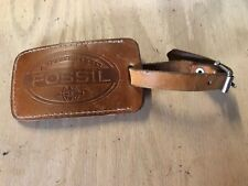 Fossil Luggage Tag - Brown Snap Close