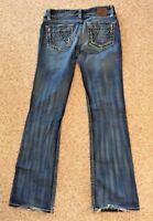 BKE Women's Blue Stella Stretch Jeans Medium Wash Boot Cut Size 28 X 31.5