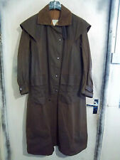 BACKHOUSE BARBOUR Stockman piena lunghezza Riding Cerato Cappotto Giacca Taglia c38 97cm S