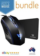 VicTsing Wired Optical Gaming Mouse & Pad Bundle - Backlit - 3200 DPI 6 Buttons