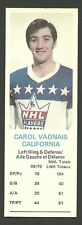 Carol Vadnais California Golden Seals 1970-71 Dad's Cookies Hockey Card EX/MT