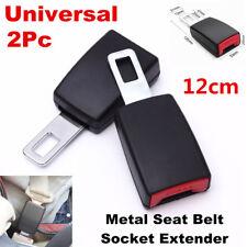 Universal 2Pcs 12cm Car Seat Belt Socket Extender Metal Seat Belt Tongue Buckles