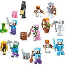16Pcs Minecraft My World Series Characters Mini Figures Building Blocks Fit Lego