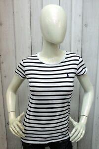 Ralph Lauren Taglia S Donna Maglia Maglietta Cotone T-shirt Manica Corta Woman