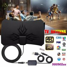 Digital TV Antenna 980 Miles Signal Booster Amplifier HDTV Indoor USB Antenna