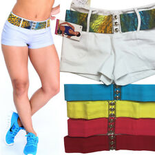 $67 Brazilian Compression Supplex Shorts Back Pockets White PICK BELT COLOR M-L
