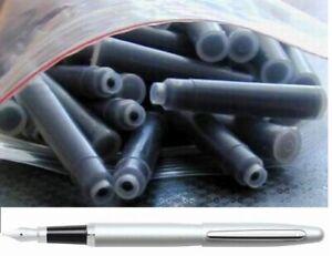 100 German Fountain Pen Ink Cartridges, Refills for SHEAFFER VFM pen in BLACK