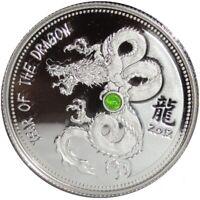 Kamerun 1000 Francs 1 Oz Silber Diopsid Drache 2012 PP nur 500 Stück ! Selten