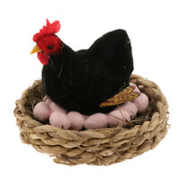 Realistic Chicken Lay Eggs Family Animal Model Figurine Toy Home Party Decor