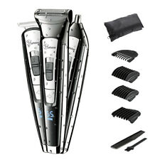 3 IN 1 Mens Electric Shaver Rechargeable Hair Beard Body Clipper Trimmer Kit New