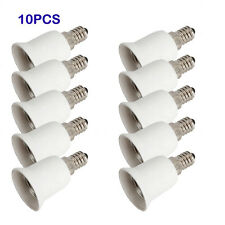 Lot10 E14 to E27 Base LED Light Lamp Holder Bulbs Socket Adapter Converter White