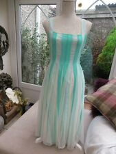 Asos stunning lined chiffon net lined 50's style dress beautiful glamorous 10