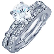 Platinum Bridal Ring Set 4.25 Carat Round Brilliant Cut Diamond GIA Certified