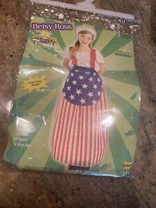 Patriotic Betsy Ross Costume Forum Novelties Girl's Large Halloween Election