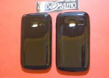 2X COVER CUSTODIA PER PROTEZIONE PER SAMSUNG GALAXY Y GT-S6102 NERO TPU SILICONE